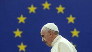 El Papa en el Parlamento. Foto la Vanguardia