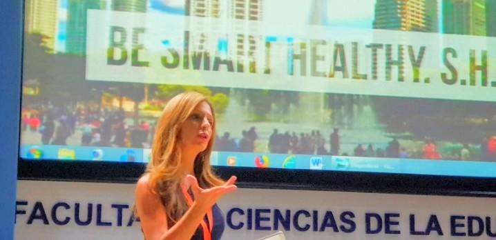 Sheila Romera en la facultad de ciencias de la educación