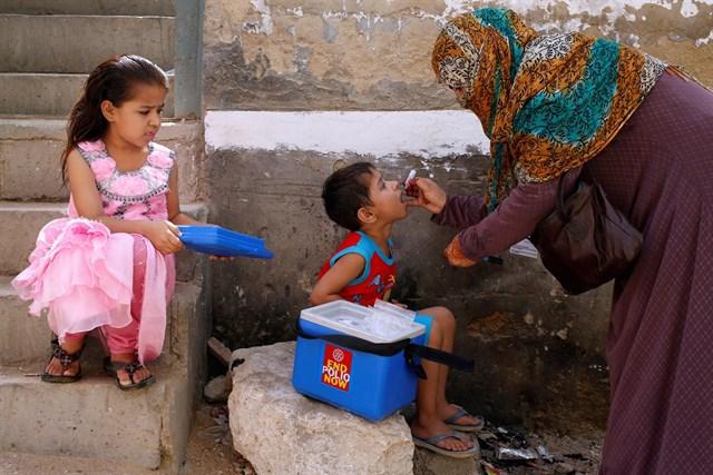 la campaña de la poliomielitis