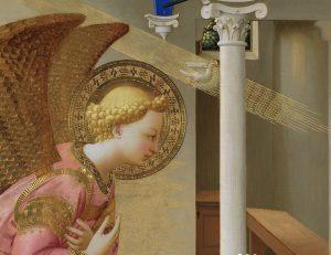 Detalle del ángel de La Anunciación