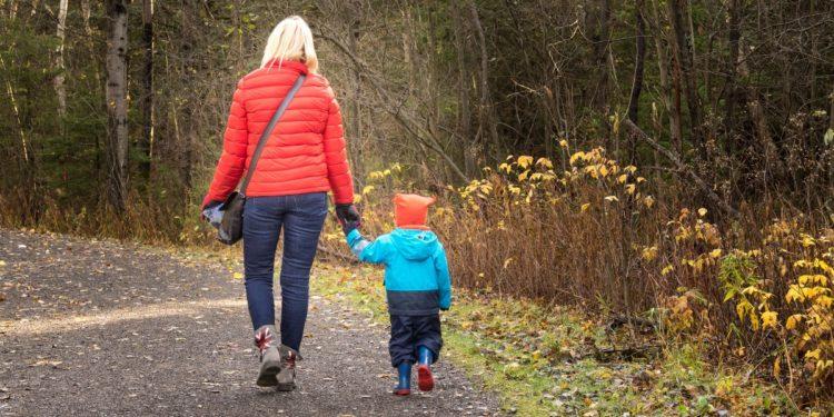 menores de paseo