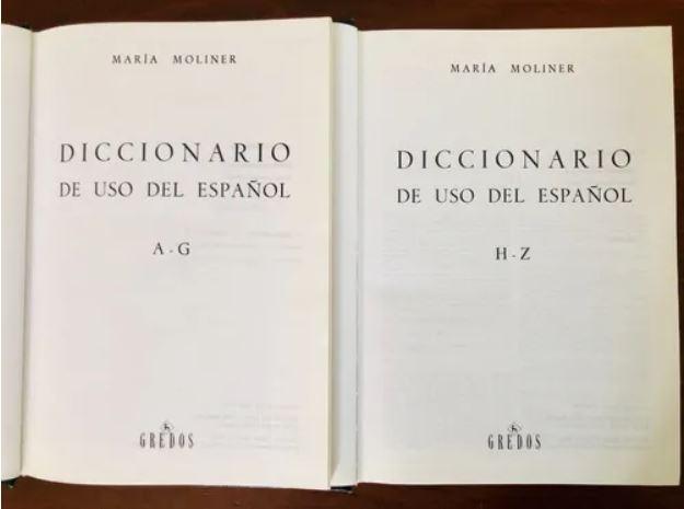 Diccionario de uso del español Maria Moliner Editorial Gredos 1966 1967